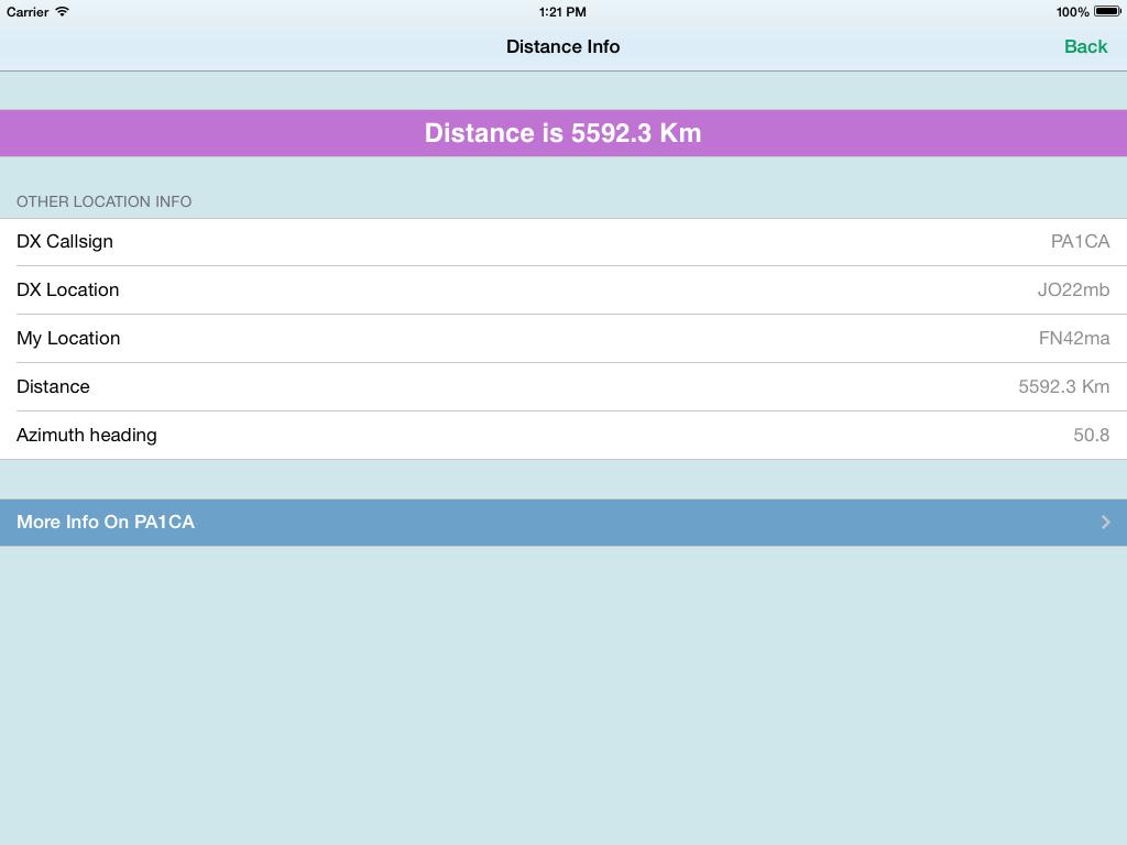 HAM Distance distance info