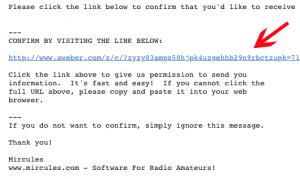 Aweber Confirmation